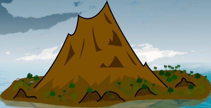 isla del volcán